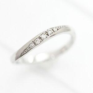 結婚指輪 プラチナ PT100(Pt10%) ダイヤモンド 0.05ct ラインリング プラチナ レディースリング マリッジリング クリスマス ギフト プレゼント 彼女