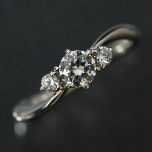 婚約指輪 プラチナリング ティファニー爪 ホワイトダイヤ 0.3Ct以上VVS1 サイドストーン PT900(Pt91%) エンゲージリング