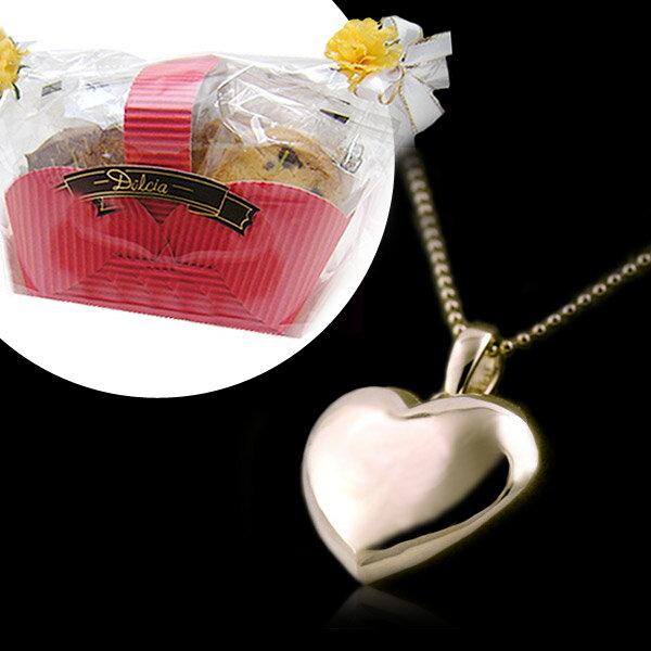 母の日 限定 スイーツ付 (パティシエクッキー付)( Brand Jewelry me. ) シルバー925・ピンクゴールドコーティングペンダントネックレス-QP【あす楽対応】【楽ギフ_包装】【DEAL】