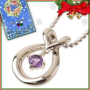 クリスマス限定Xmasカード付( Brand Jewelry with me. ) ( 2月誕生石 ) アメジストバースディペンダントネックレス【楽ギフ_包装】【DEAL】