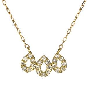 ネックレス K18イエローゴールド 18金 K18 18k ダイヤモンド しずく 卵 人気 おすすめ レディース 女性【DEAL】 末広 楽天スーパーSALE
