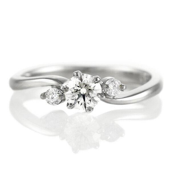 【刻印無料】婚約指輪 エンゲージリング ダイヤモンド プラチナ リング ソリティア 一粒 【楽ギフ_包装】