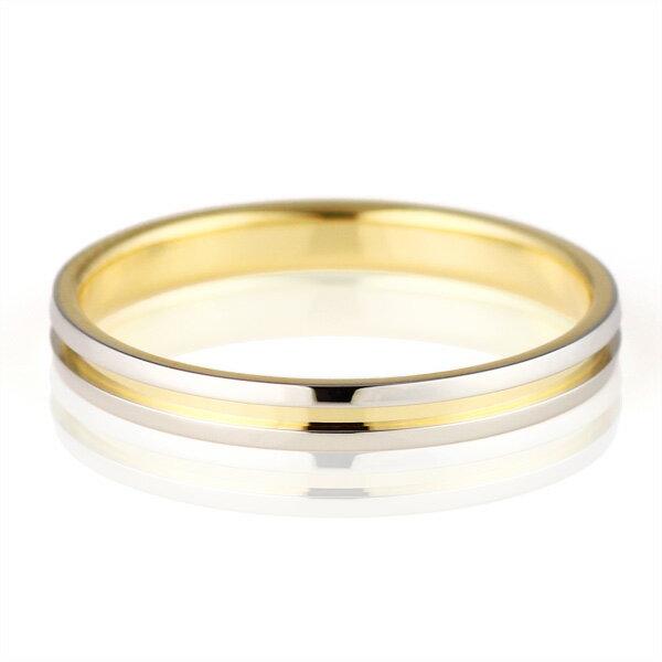 結婚指輪 マリッジリング ペアリング プラチナ K18イエローゴールド Himawari 人気【楽ギフ_包装】