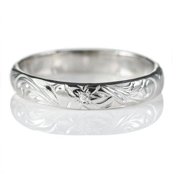 結婚指輪 マリッジリング ダイヤモンド リング K18ホワイトゴールド【楽ギフ_包装】