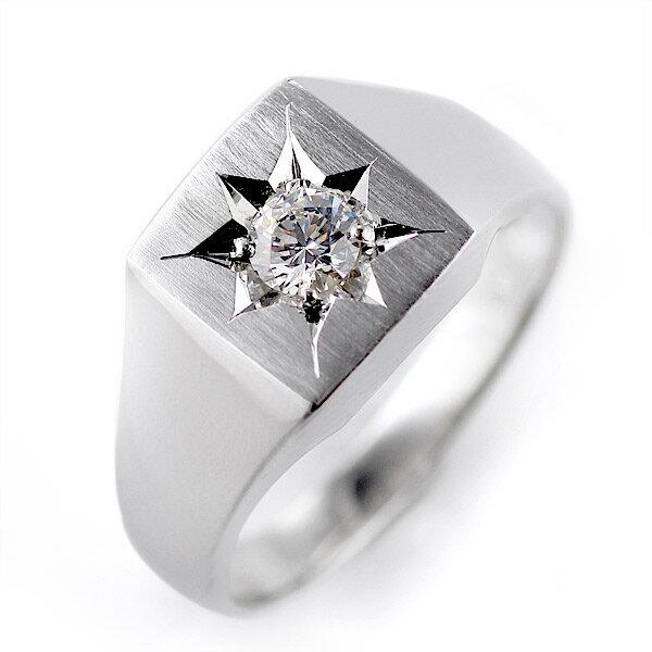 婚約指輪 印台リング 指輪 キュービックジルコニア 一粒 シルバー925 リング エンゲージリング【楽ギフ_包装】