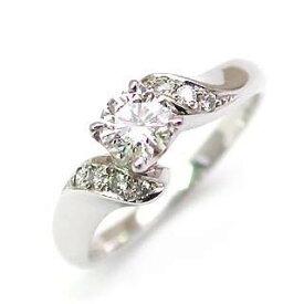 AneCan掲載 (Brand アニーベル) Pt ダイヤモンドデザインリング(婚約指輪・エンゲージリング) メレ 【楽ギフ_包装】 【DEAL】