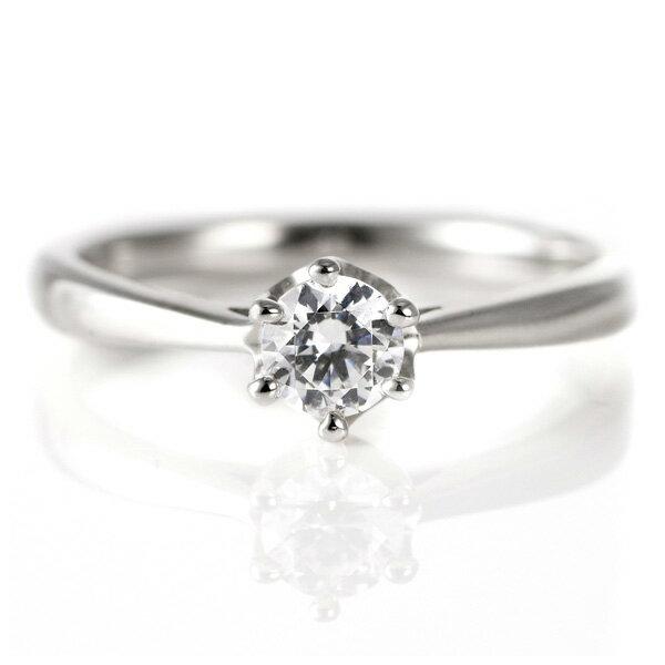 婚約指輪 ダイヤモンド ダイヤ プラチナ リング 0.3ct 天然石 エンゲージリング 鑑別書【楽ギフ_包装】【DEAL】