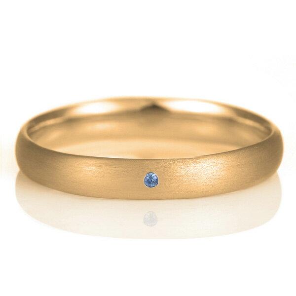 結婚指輪 マリッジリング 18金 ピンクゴールド つや消し マット 甲丸 天然石 ペリドット【楽ギフ_包装】