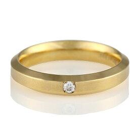 ( Italian Brand Jewelry ウノアエレ ) K18イエローゴールド ダイヤモンドペアリング【楽ギフ_包装】 末広 楽天スーパーSALE