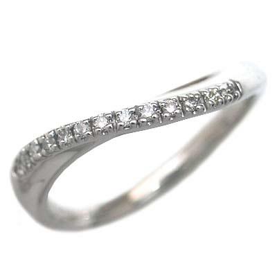 ( Brand Jewelry me. ) ホワイトゴールド ダイヤモンドペアリング【楽ギフ_包装】