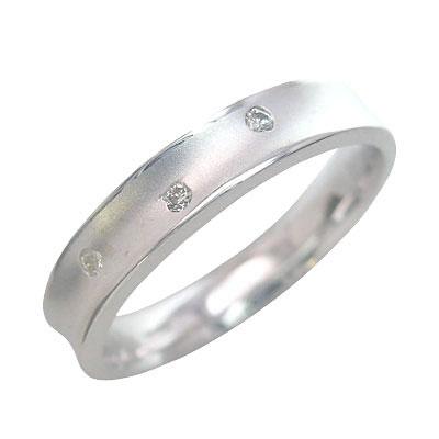 ( Brand Jewelry me. ) ホワイトゴールド ダイヤモンドペアリング【楽ギフ_包装】【DEAL】
