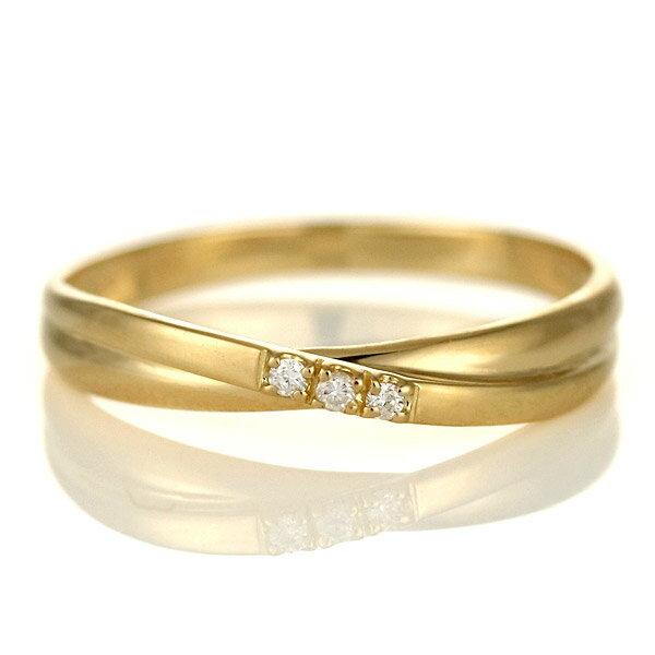 婚約指輪 エンゲージリング ダイヤモンド 18金 金 K18 18k イエローゴールド スリーストーン 人気 おすすめ レディース 女性【楽ギフ_包装】【DEAL】