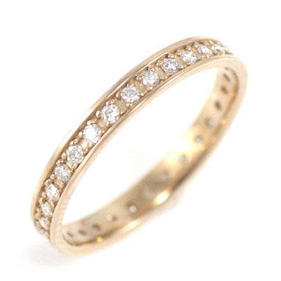 ( Brand Jewelry me. ) K18ピンクゴールド ダイヤモンドフルエタニティリング【楽ギフ_包装】