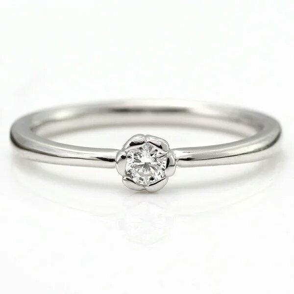 婚約指輪 エンゲージリング ダイヤモンド プラチナ リング 花びら【楽ギフ_包装】