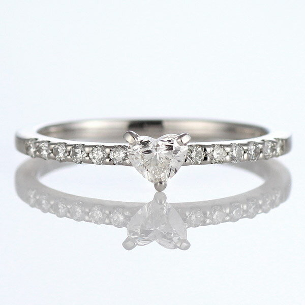 ハートシェイプ ダイヤモンドリング プラチナ ハートカット ダイヤモンド リング 婚約指輪 エンゲージリング 鑑別書付 プロポーズ