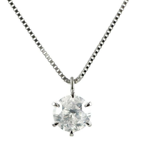 ネックレス 一粒 ダイヤモンド ネックレス プラチナ ダイヤモンドネックレス ダイヤモンド ダイヤ 1カラット【楽ギフ_包装】