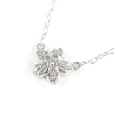 ( Brand Jewelry me. ) K10ホワイトゴールド ダイヤモンドペンダントネックレス(スターモチーフ)【楽ギフ_包装】