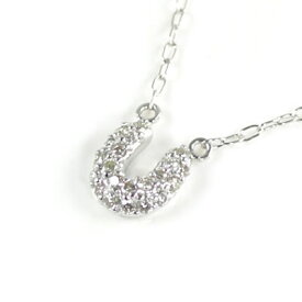 ( Brand Jewelry me. ) K10ホワイトゴールド ダイヤモンドペンダントネックレス(馬蹄モチーフ)【楽ギフ_包装】 末広 楽天スーパーSALE