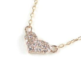 ( Brand Jewelry me. ) K10ピンクゴールド ダイヤモンドペンダントネックレス(ハートモチーフ)【楽ギフ_包装】 末広 楽天スーパーSALE