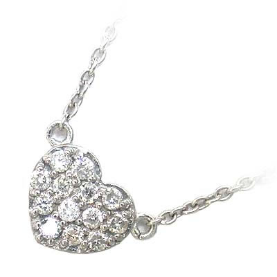 ( Brand Jewelry me. ) K10ホワイトゴールド ダイヤモンドペンダントネックレス【楽ギフ_包装】