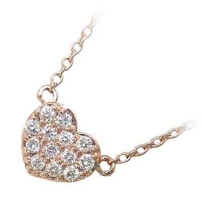 ( Brand Jewelry me. ) K10ピンクゴールド ダイヤモンドペンダントネックレス【楽ギフ_包装】