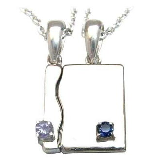 (December .9 moon stone amulet for an easy delivery) a silver tanzanite sapphire pair pendant necklace