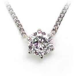 ネックレス 一粒 ダイヤモンド ネックレス プラチナ ダイヤモンドネックレス ダイヤモンド ダイヤ 0.1カラット【楽ギフ_包装】【DEAL】