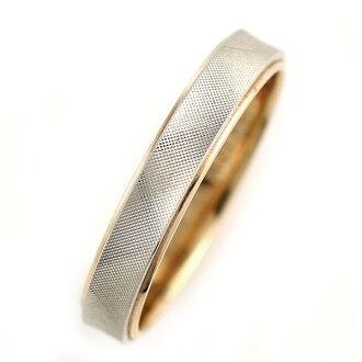环(Brand Jewelry Oferta)白金950.K18粉红黄金副(结婚戒指)