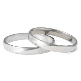 プラチナ ペアリング 結婚指輪 マリッジリング シンプル 2本セット 【楽ギフ_包装】