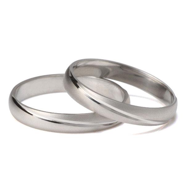 プラチナ ペアリング 結婚指輪 マリッジリング つや消し シンプル 2本セット 【楽ギフ_包装】