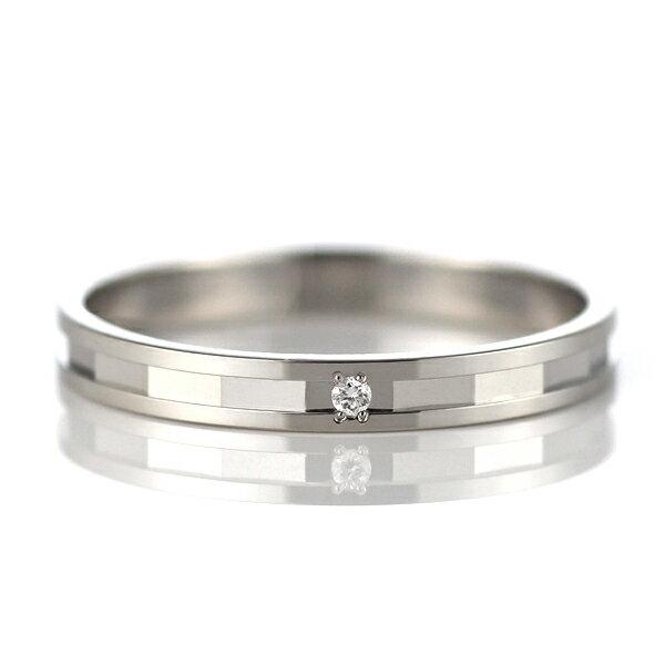 ラッピング無料 結婚指輪 マリッジリング ペアリング プラチナ ダイヤモンド【楽ギフ_包装】