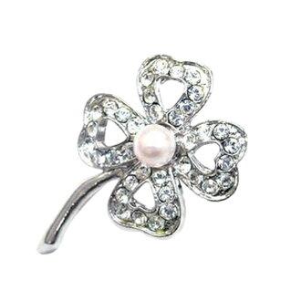 珍珠珍珠胸針三葉草珍珠女士珍珠