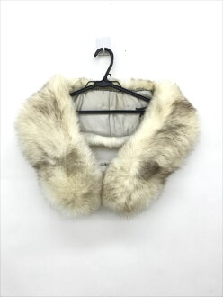 SAGAFOX fur shawl cream yellow Fox fur Lady's apparel clothes all shop net2