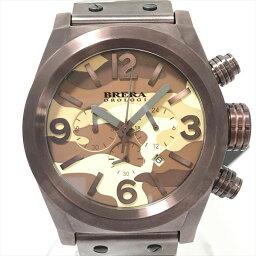 BRERA(burera)OROLOGI ororojikamofuraju BRETC4522CM計時儀SS×橡膠石英人茶棕色手錶netshop