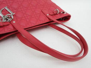 ChristianDior(クリスチャン・ディオール)パナレアトートバッグ赤レッドコーティングキャンバス×レザー【ブラン