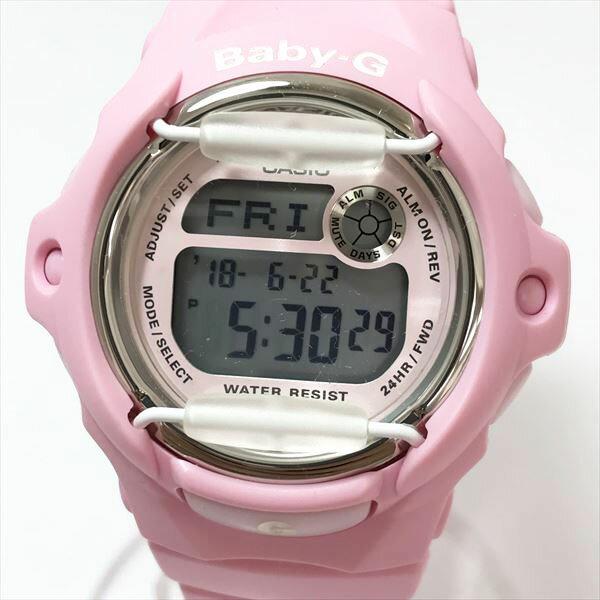 BABY-G(ベビージー) BG-169R デジタル スkテンレススチール(SS)×ウレタン クォーツ レディース ピンク 【中古】 腕時計 netshop