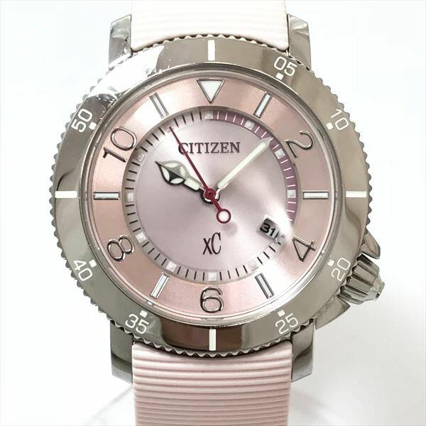 CITIZEN(シチズン) XC クロスシー E001-T017029 ピンク文字盤 ステンレススチール(SS) エコドライブ レディース 【中古】 腕時計 netshop