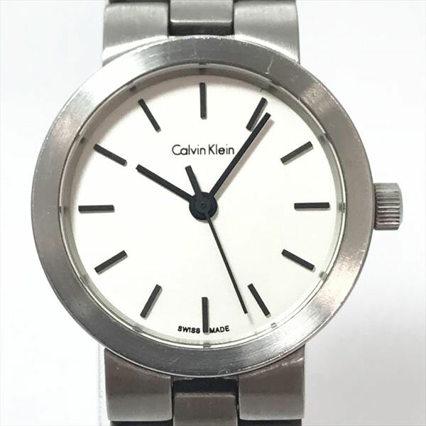 Calvin Klein(カルバン クライン) ホワイト文字盤 ステンレススチール(SS) クォーツ レディース 【中古】 腕時計 netshop