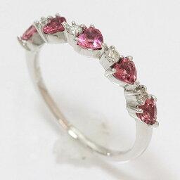 心電氣石/鑽石計0.08ct環9號18錢白色合金(K18WG)珠寶netshop