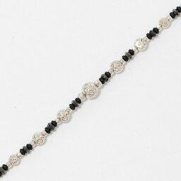 手鐲黑色鑽石計1.00ct 18錢白色合金(K18WG)[中古]珠寶[新貨完成已經]netshop