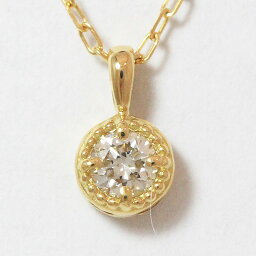 新貨!項鏈1粒石頭鑽石0.08ct 18錢黄色黄金(K18YG)[新貨]珠寶netshop[2018715]