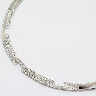 钻石计1.38ct项链18钱白色合金(K18WG)珠宝netshop