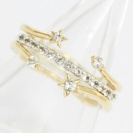 1c35a31fa6407a STAR JEWELRY(スタージュエリー) リング 星 スター ホワイトトパーズ 11号 10金ホワイト