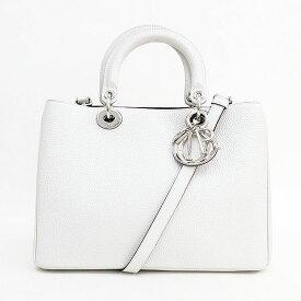 Christian Dior(クリスチャン・ディオール) ディオリッシモ 2WAY ハンド ショルダーバッグ 白 ホワイト 【ブランドバッグ】 【中古】 netshop