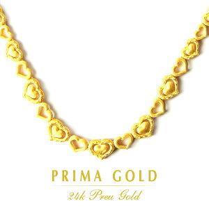 PRIMAGOLD プリマゴールド【送料無料】ギフト・贈り物に【純金 ネックレス】HEART IN HEART(ハート・イン・ハート)24金 純金 ゴールド