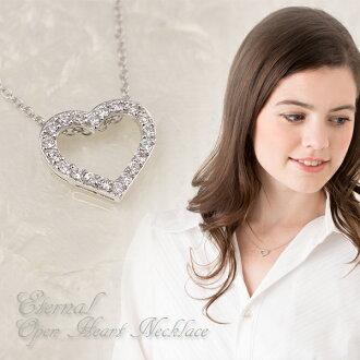 Eternal이 오픈 하트 목걸이 펜 던 트 여성용 ladies/necklace/pendant/여성용/レデイース/장식품 크리스마스