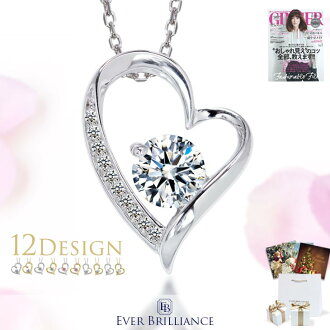 Necklace 0.65 ct heart & Cupid open heart necklace giveaway gifts birthday wedding anniversary white day gifts