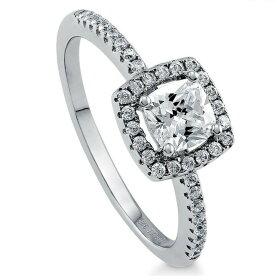 【リング指輪】SSプラチナ仕上げ/0.65ctヘイローリング(HaloRing)プレゼントリング指輪レディースギフト贈り物指輪プラチナデザイナーズリング【ハリーウィンストンが好きな方】【05P23Apr16】