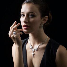 【リング指輪】SSプラチナ仕上げ/7.26ctペアーシェイプカットクラシックリングプレゼントリング指輪レディースギフト贈り物指輪プラチナデザイナーズリング【ハリーウィンストンが好きな方】【05P23Apr16】