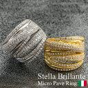 【送料無料】【Stella Brillante】マイクロパヴェ リング(指輪 レディース ジュエリー 誕生日プレゼント 40代 女性 プ…